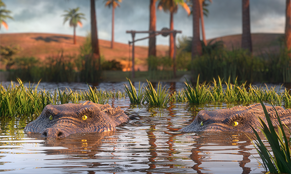 Crocs in the Nile