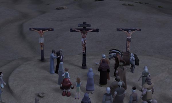 He Is Risen - 3 Crosses on Golgotha
