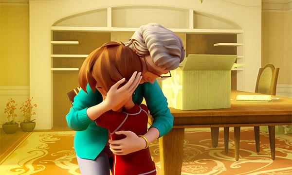 Grandma and Chris Hug