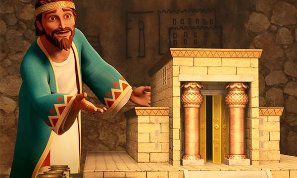 King Solomon Shows the Temple