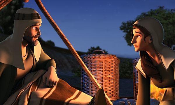 Boaz Talks with Ruth