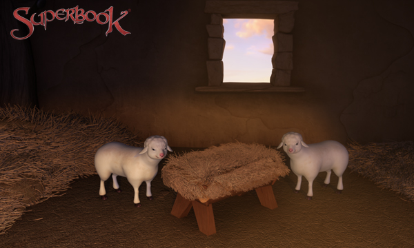 Sheep by the Manger