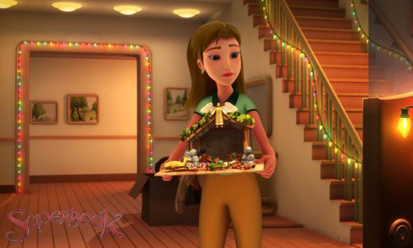 Superbook-Pheobe和聖誕馬槽場景