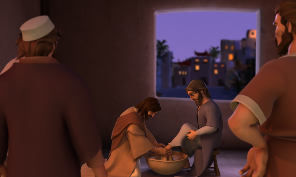 The Last Supper - Jesus Washes John's Feet
