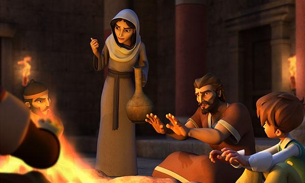 Petru și slujitoarea