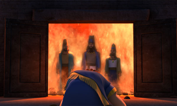 Shadrach, Meshach, and Abednego Step Out