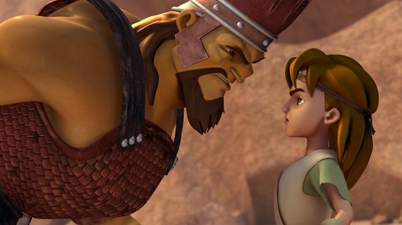Goliat îl întâlnește pe David