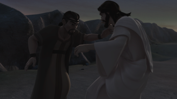 雅各与神摔跤