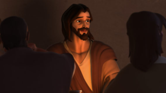عیسی دعا میکند