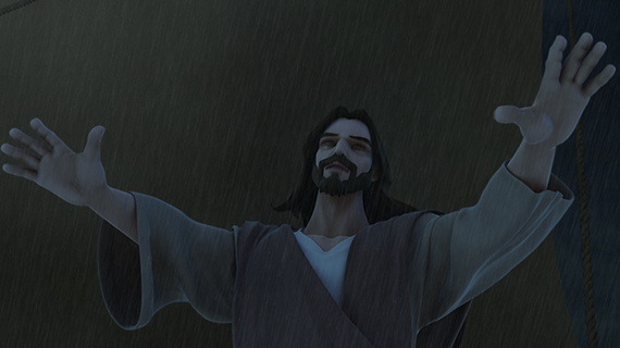 یسوُع طوُفان کو تھما دیتا ہے