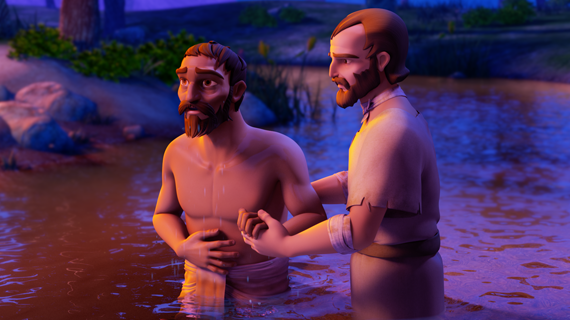Paul Baptizing The Jailer